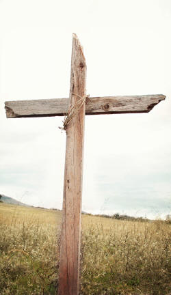 Photo of a cross in a field